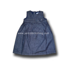 baby girl dark blue denim puffy dress